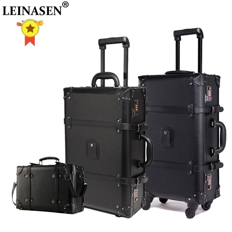 Набор чемоданов на колесиках для женщин с кодовым замком, 24 дюйма