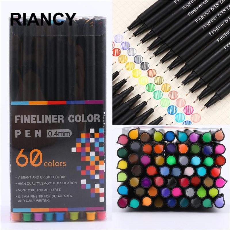 12/24/36/48/60pcs Colorful Neutral Marker Pen Fineliner Pens For School Office Pen Set Kawaii Ink Pen Art Supplies Cute 04031