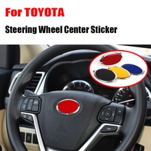 Car styling Steering Wheel Badge Emblem Decoration Cover Sticker Auto for Toyota Land Cruiser Prado Yaris Camry Reiz Accessories