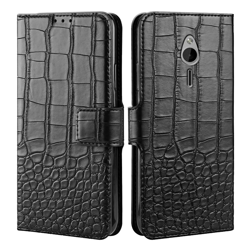 Luxury Flip PU Leather Wallet Magnetic Case for Nokia 230 / 230 Dual SIM Case Protective Phone Bags