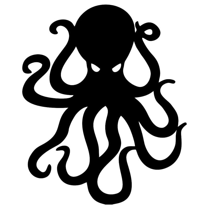 Etiqueta do carro dos desenhos animados octopus kraken vinil acessórios de automóvel janela do carro estilo do carro decalque pvc 16cm * 13cm capa arranhões à prova dwaterproof água