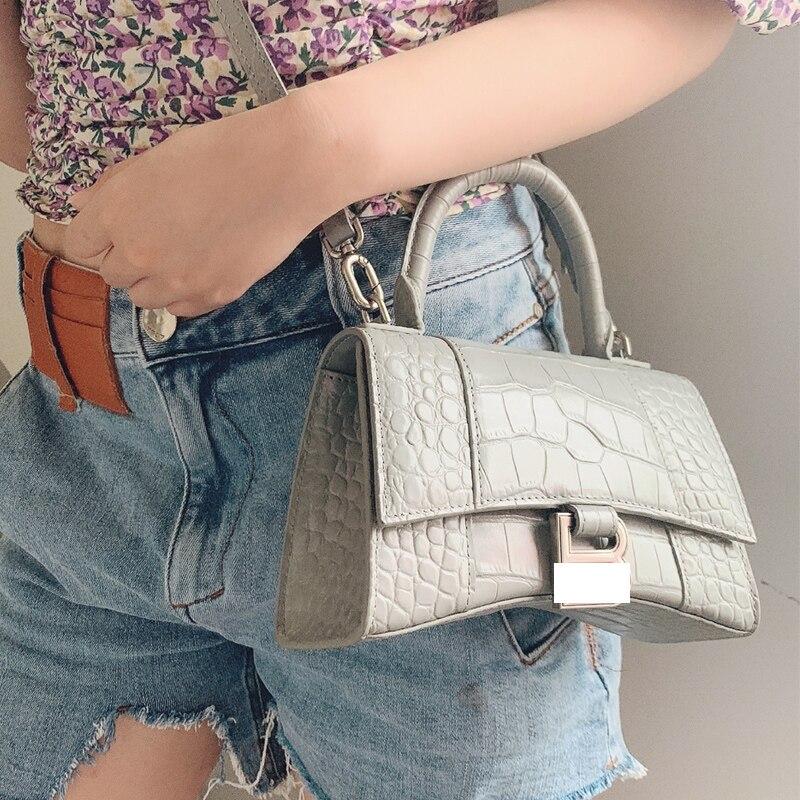 Women's Genuine Leather Handbag Luxury Brand Fashion Crocodile Pattern Bag Shoulder Bag High Quality 2021 New Hot