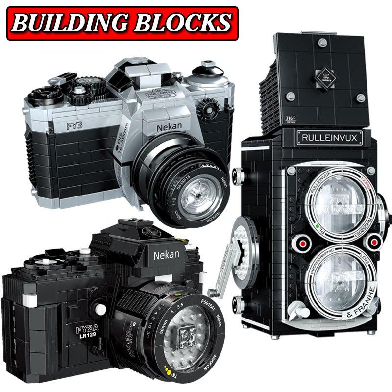 Ретро Конструктор камера Ретро Коллекционирование игрушек новая мини-камера конструктор мини-конструктор набор блоков блоки FY2A SLR констру...