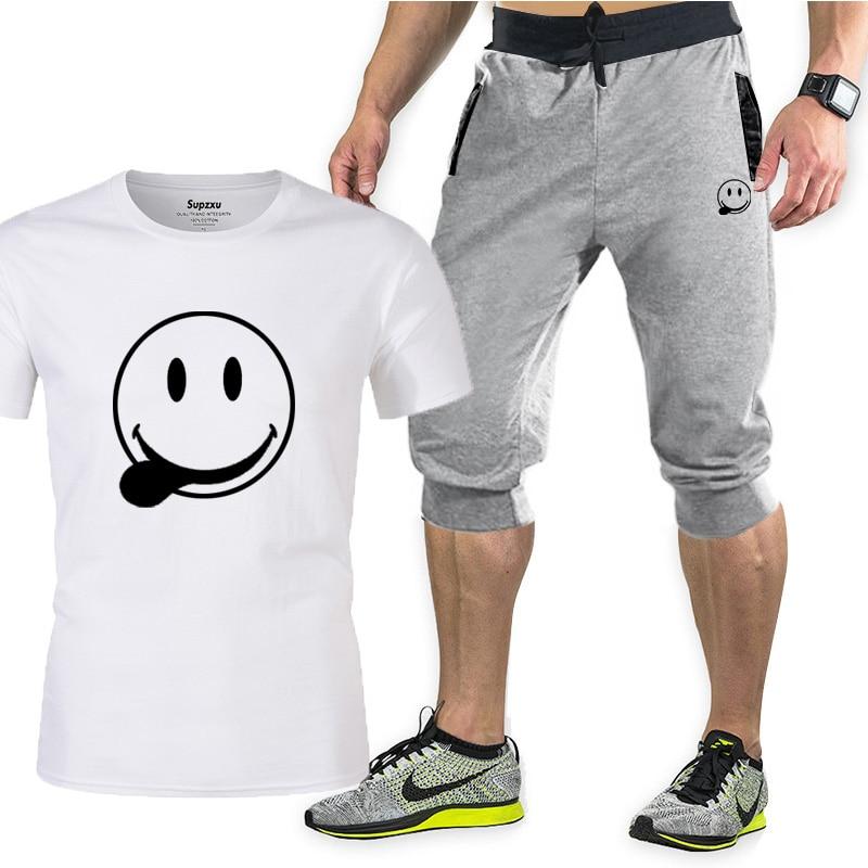 Комплект спортивной одежды мужской из 2 предметов, Свитшот и брюки, повседневная спортивная одежда, баскетбольная одежда, брендовая одежда ...