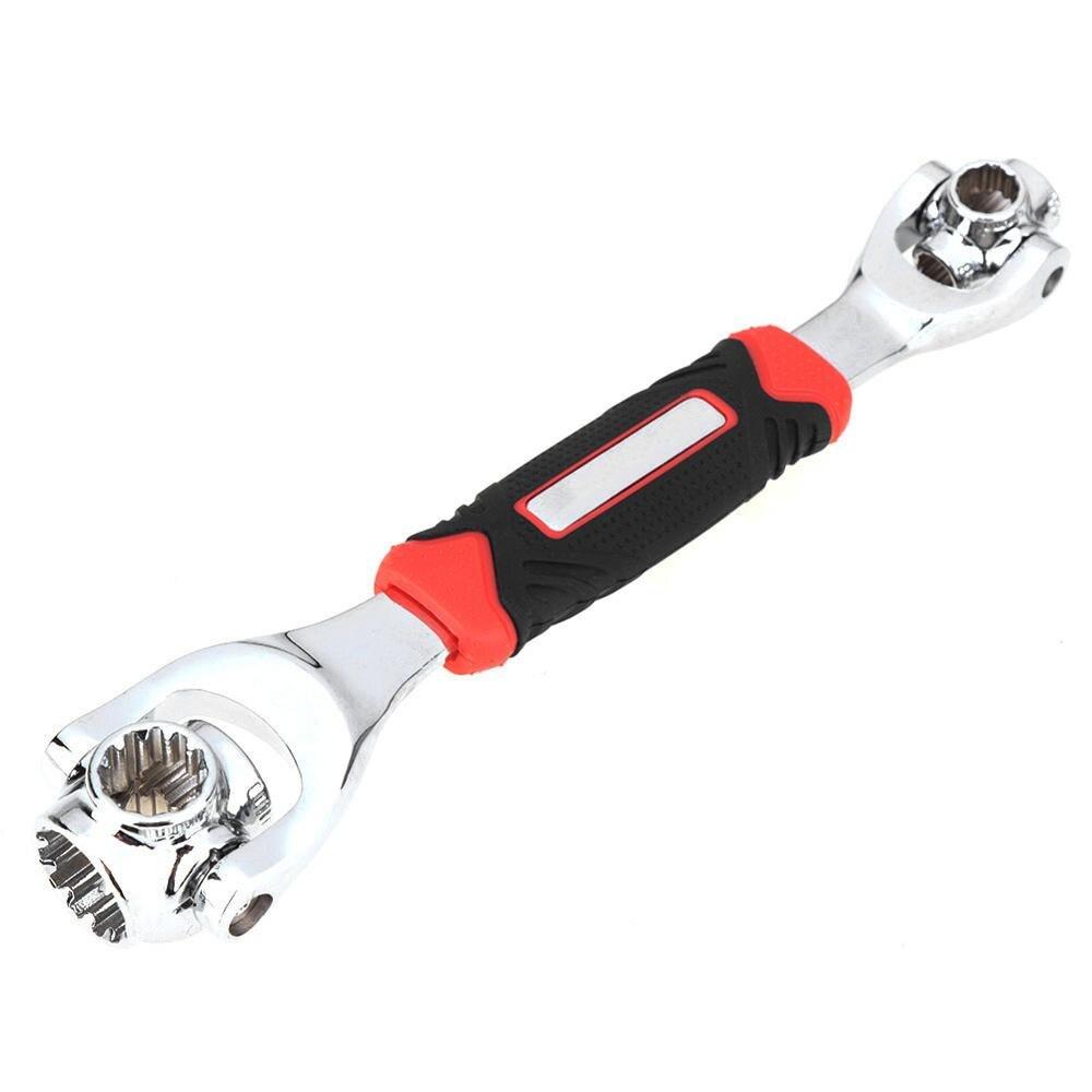 Llave para pernos multifunción 48 en 1, llave inglesa multifuncional de rotación de 360 grados, llave Universal, herramientas manuales de reparación para muebles y automóviles