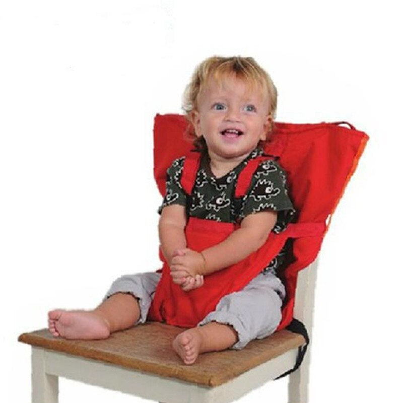 Newborn Safety Seat Strap High Chair for Baby Dining Simple Solid Color Polyester Portable Baby Accessories Products
