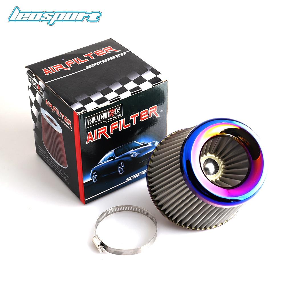 "Burnt Blue 3"" 76mm Power Intake High Flow Cold Air Intake Filter Cleaner Racing Car Air Filter"
