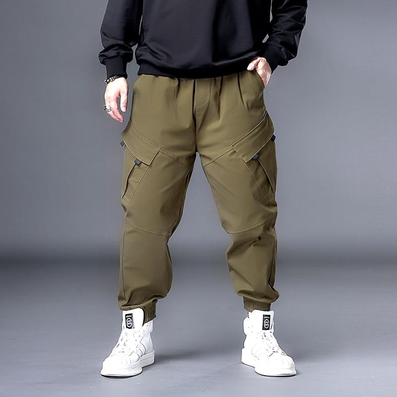 زائد 7XL 6XL XXXXXL الرجال الهيب هوب الأسود البضائع السراويل ركض Sweatpants وزرة الرجال الشارع الشهير سراويلي حريمي سراويل الموضة