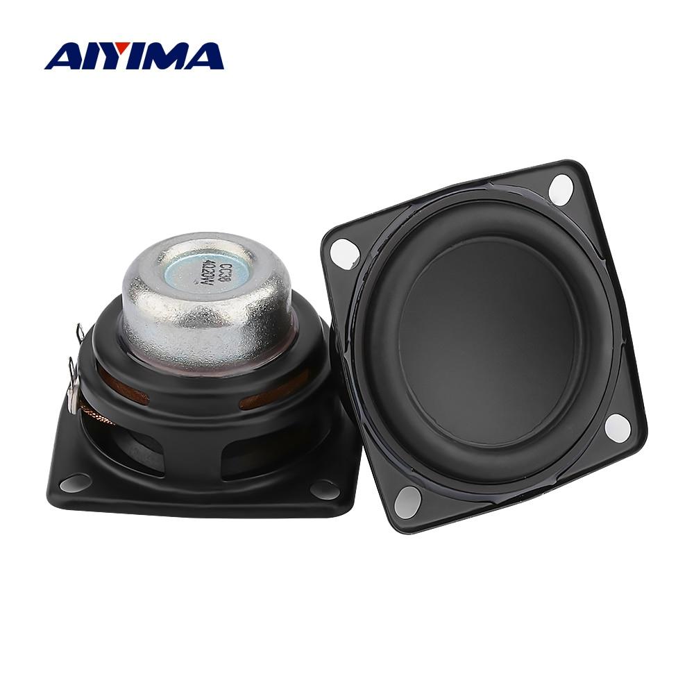 AIYIMA 2Pcs 2 Inch Full Range Audio Speaker Unit 53mm 4 Ohm 20W Hifi Stereo Loudspeaker DIY Bluetooth Home Amplifier Speaker