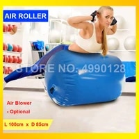 free shipping 100x85cm tumbling inflatable air roller air barrel home large yoga gymnastics exercise cylinder gym beam indoor