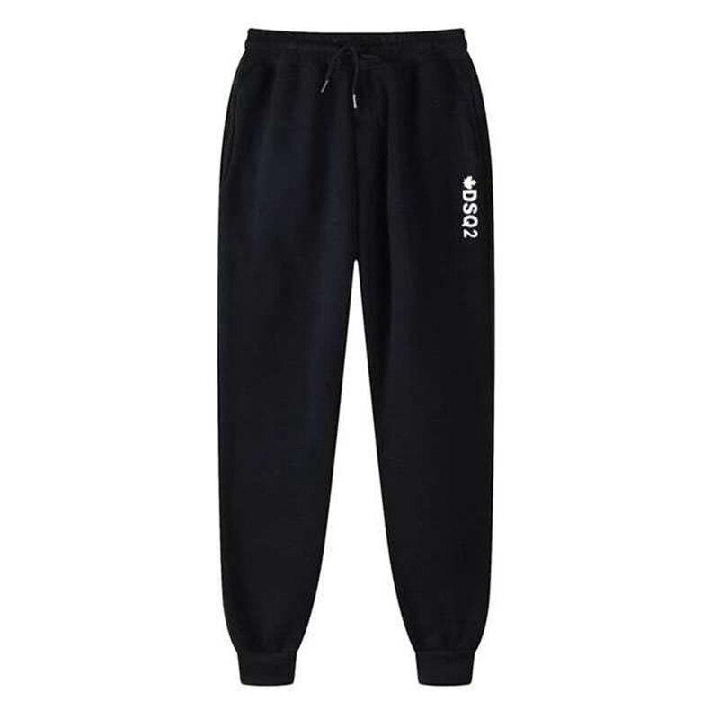 Брюки мужские с открытыми штанинами, модные повседневные штаны для фитнеса в стиле Dacron, тренировочные брюки для фитнеса и бега