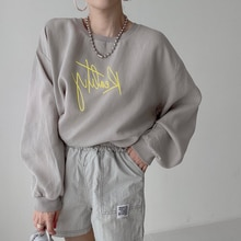 Autumn New 2021 Solid Color Printing Round Neck Long Sleeve Hoodie Women's Clothing Japanese Style F
