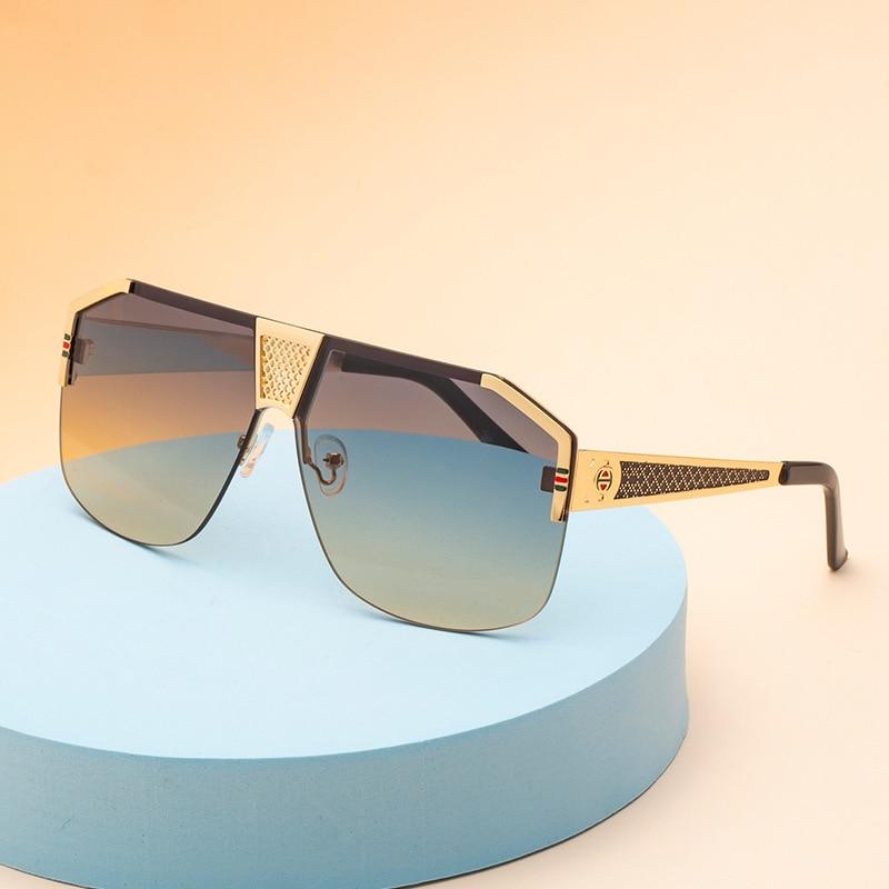 New Retro One Piece Sunglasses Men's Box Fashion Sunglasses Half Frame Sunglasses 05867 Sunglasses Wholesale  Sunglasses