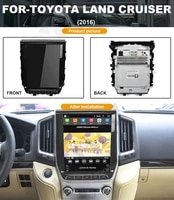 vertical screen car dvd player for toyota land cruiser 2016 auto multimedia player stereo video player tape recorder 12 1 inch