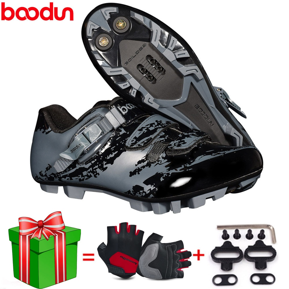 Boodun NEW cycling shoes ultralight Breathable Locking Mountain bike shoes Outdoor sports MTB bicycle professional Riding shoes