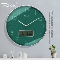 wall clock modern design luxury crystal metal wall art decor living room fashion creative watches home ornaments brief style