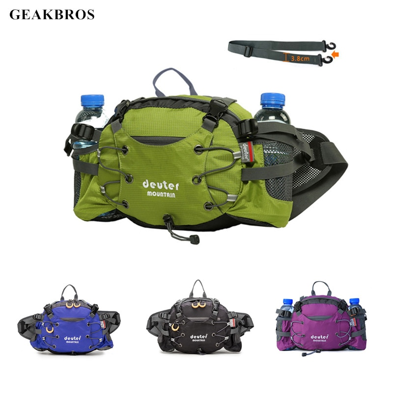 Outdoor Sports Waist Bag Running Cycling Climbing Backpack Waterproof Hiking Hunting Riding Travel Water Bottle Shoulder Pack