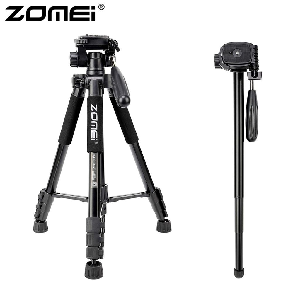 ZOMEI Q222 كاميرا ترايبود Tripode Stative مرنة التصوير ترايبود Monopod السفر حامل للهواتف الذكية كاميرا DSLR العارض
