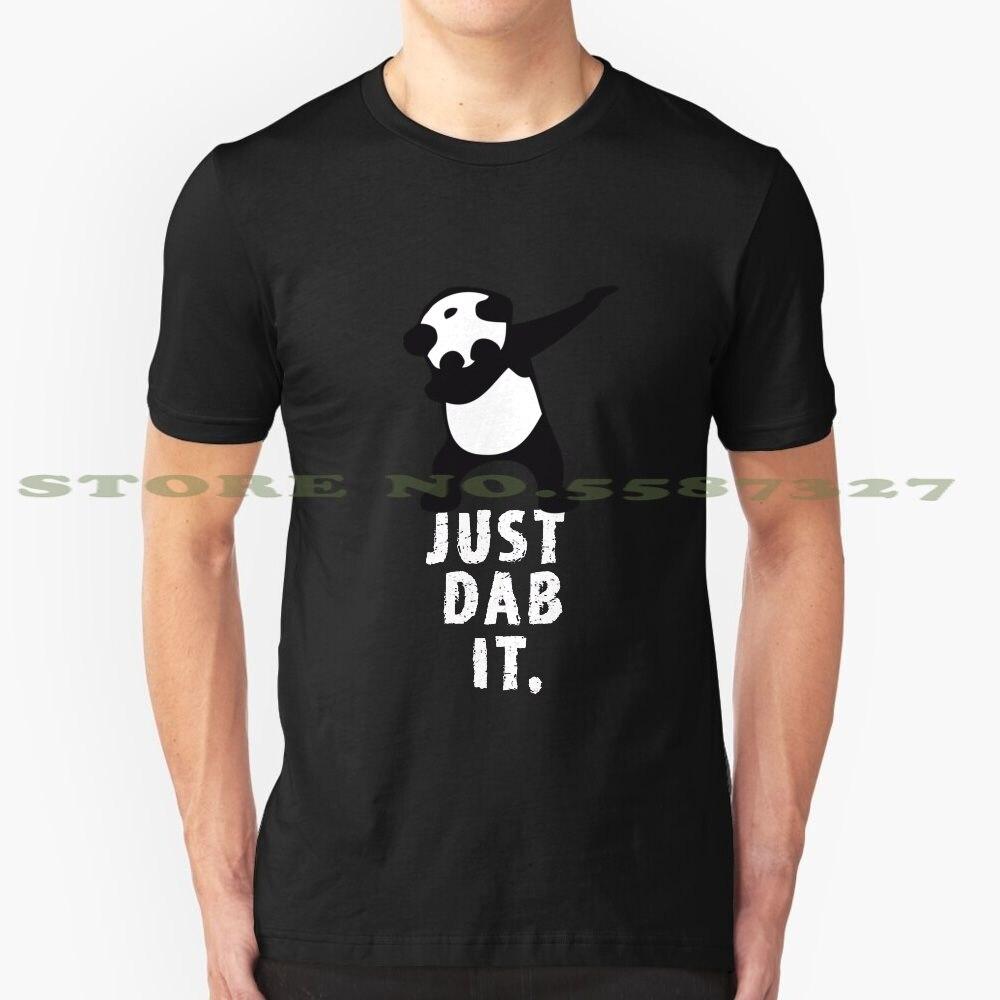 Dab Panda Dab Dabber baile fútbol toque rojos diseño de moda camiseta Splash sólo Panda Dab Touchdown divertido