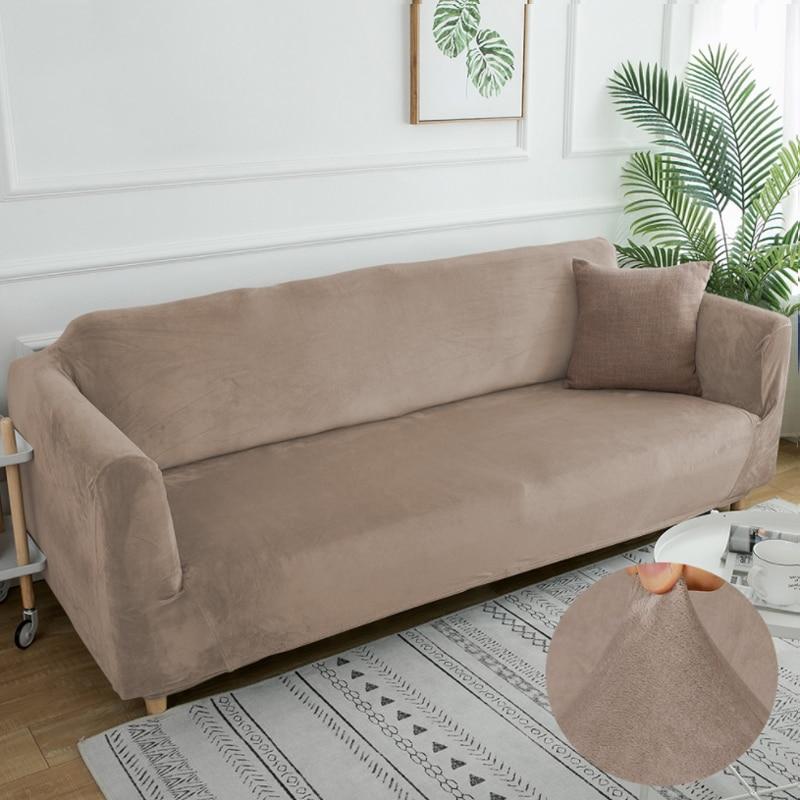 المخملية رشاقته غطاء أريكة الحديثة بلون مرونة الأثاث الأريكة الغلاف تمتد شاملة غطاء أريكة s لغرفة المعيشة