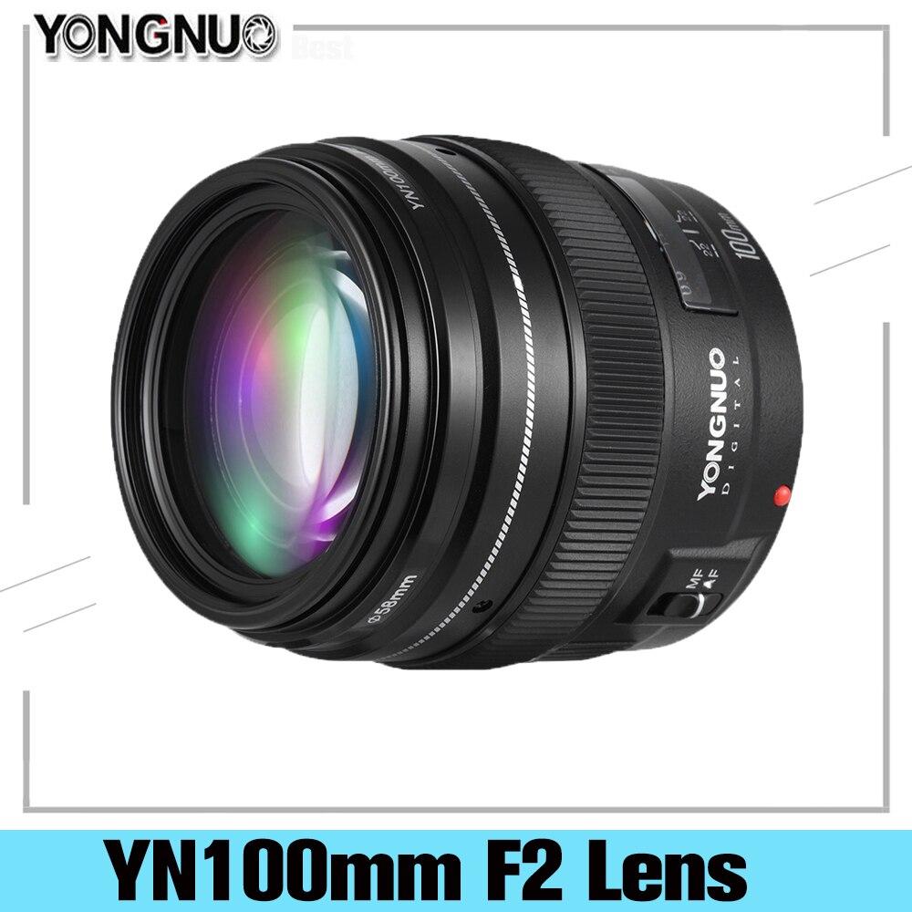 YONGNUO-عدسة أساسية متوسطة مقربة ، فتحة كبيرة 100 مللي متر YN100mm F2 لكاميرا Canon EF Mount 5D 5D IV 1300D T6 760D 1300D Nikon