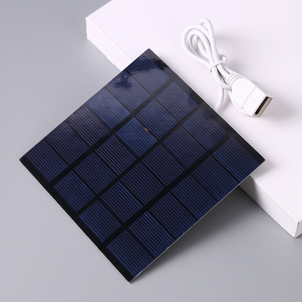 1.5W 6V USB Solar Panel Polysilicon Portable Outdoor Travel DIY Solar Charger Generator for Light Mobile Phone Battery