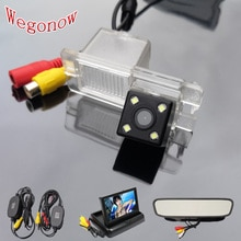 HD Auto CCD 4 LED Nachtsicht Backup Rückansicht Rückfahr Kamera Wasserdicht Parkplatz Für Ssangyong Rexton Kyron Korando Actyon
