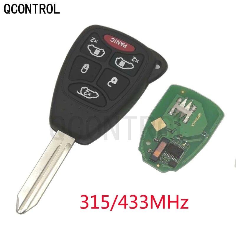 QCONTROL coche Flip remoto 315/433 MHz para JEEP Auto comandante Wrangler patriota brújula Grand Cherokee Liberty con ID46 chip