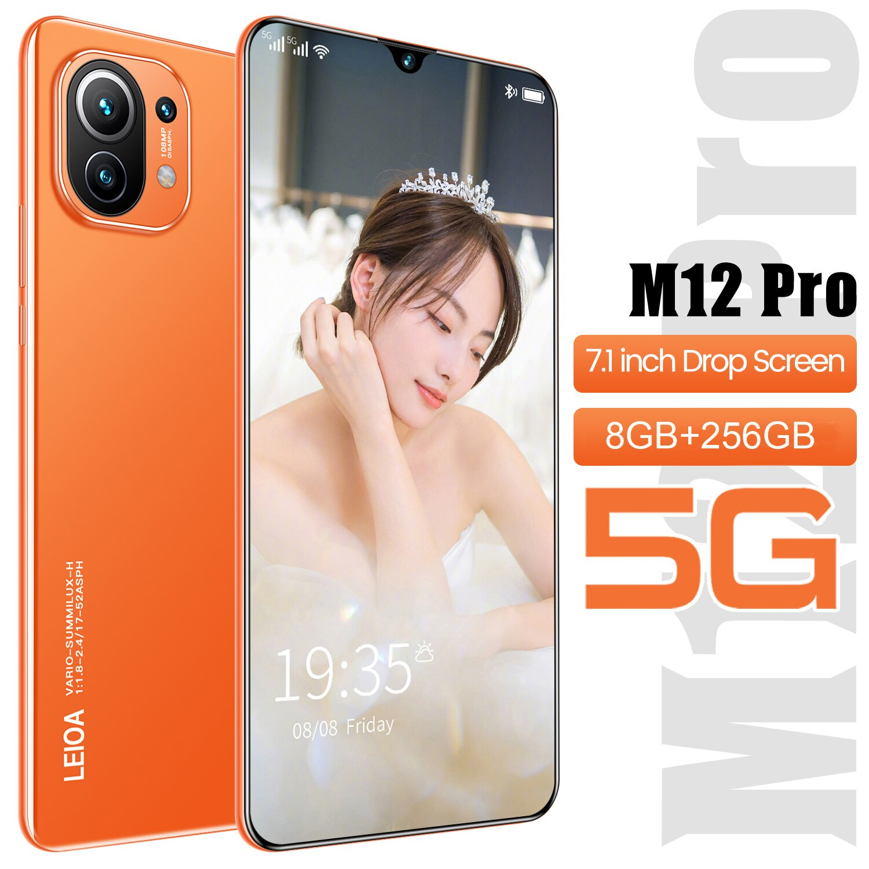 M12 Pro 6800mah 12 + 256gb Andriod الهاتف 7.1 شاشة كاملة Mtk6595 عشاري النواة ثنائي الشريحة + مايكرو Sd 24 48mp هاتف ذكي عالمي