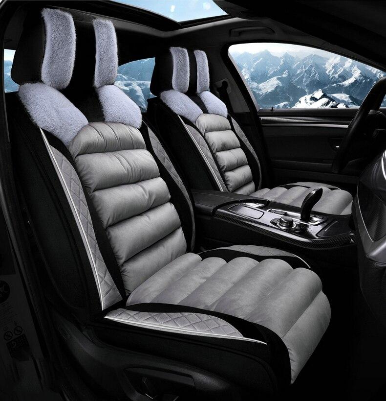 GEEAOK cubierta universal de asiento de coche de peluche para subaru impreza forester justy legado Leona interior svx vivio automóvil Tribeca Accesorios