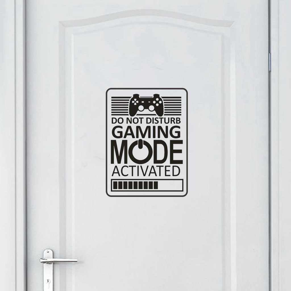 KAKUDER 18x24CM GAMER TUN NICHT STÖREN GAMING MODUS AKTIVIERT Wand Aufkleber Hause Tür Decor Tür Wand Aufkleber 19Oct15