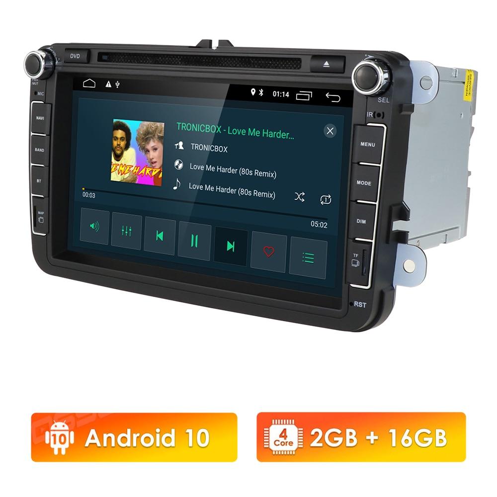 8 بوصة IPS مشغل أسطوانات للسيارة لسيارات فولكس فاجن سكودا مقعد جولف باسات جيتا توران بولو أوكتافيا 2GB RAM 16GB ROM DSP لتحديد المواقع SWC BT RDS واي فاي 4G