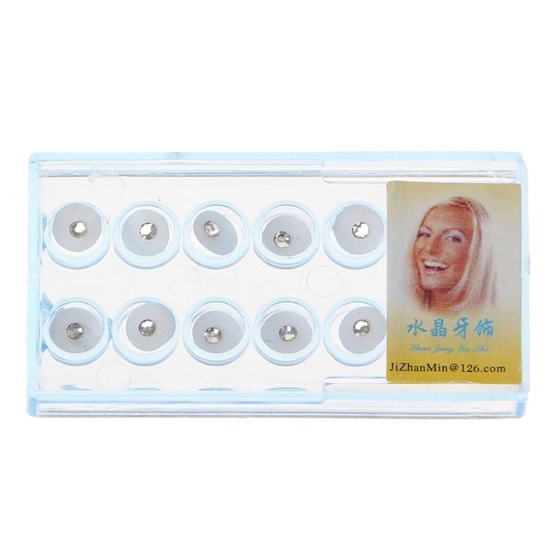10 pçs/caixa 2mm dental colorido cristal dente moda jóias gem decoração com caixa axyd