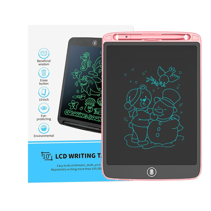 LCD Kids Writing Drawing Tablet 10 Inch Notepad Digital LCD Graphic Board Handwriting Bulletin Board for Education Business business education
