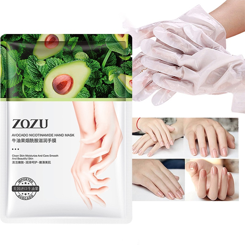 Shea Butter Nicotinamide Hand Mask 35g/Pair Moisturizing Nourish Foot Mask Repairing Exfoliating Smo