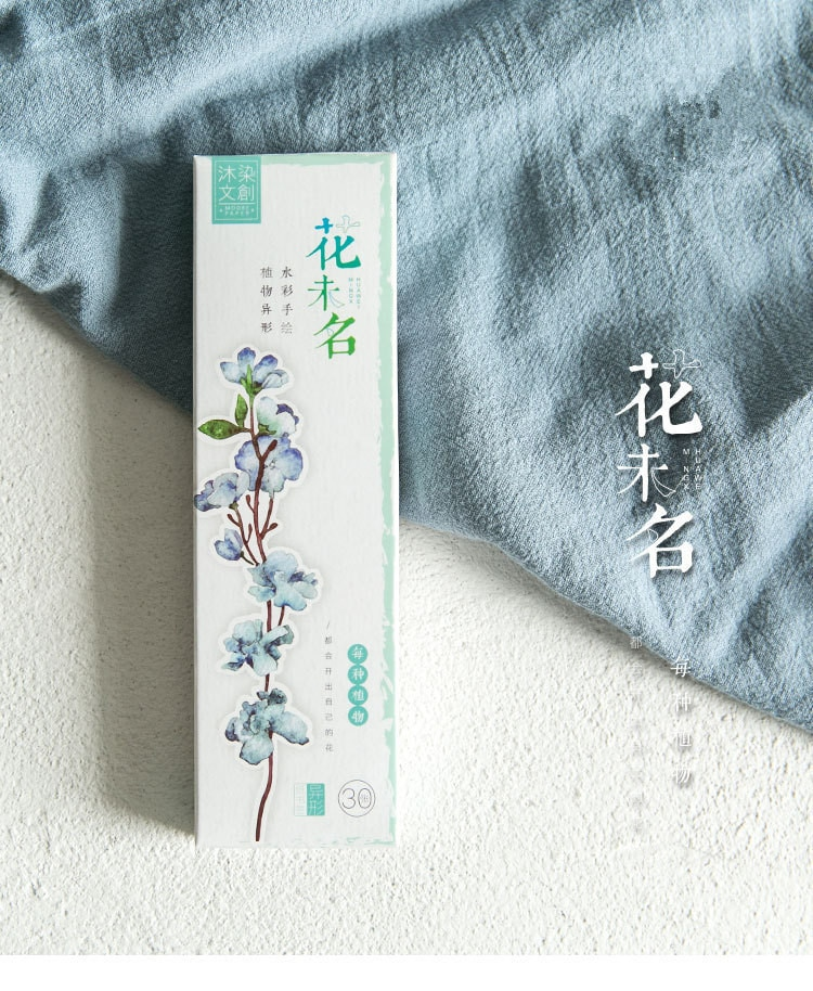 30 unids/set flores serie Alien papel marcador libro titular mensaje tarjeta Kawaii regalo papelería
