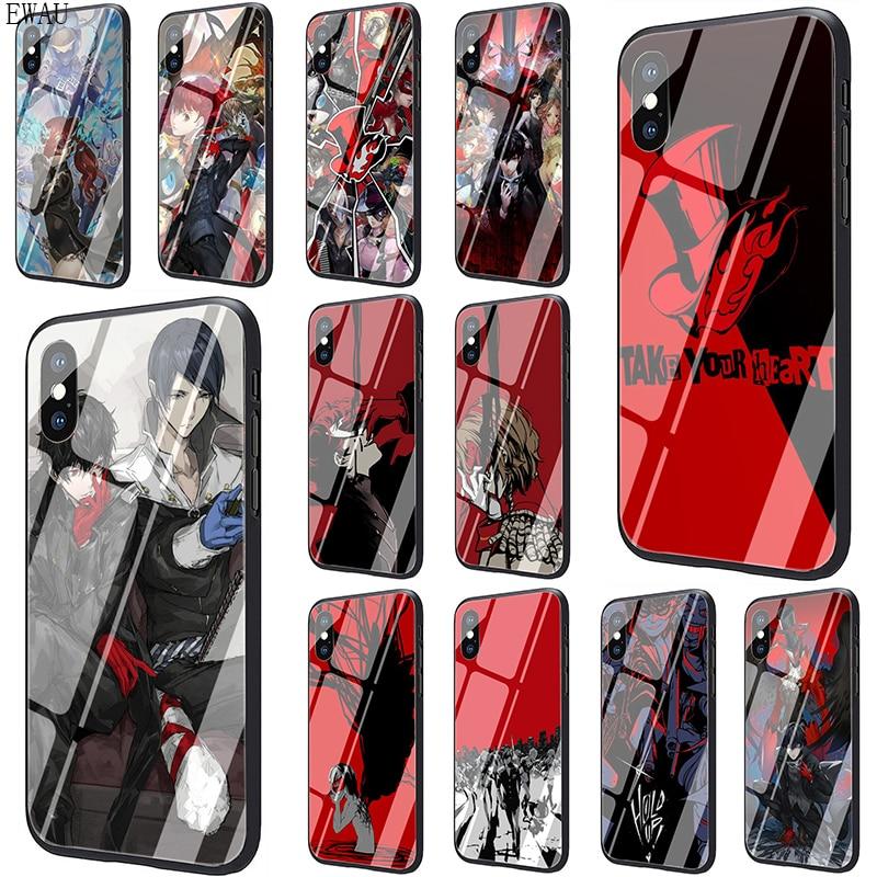 Чехол для телефона из закаленного стекла EWAU P5 P Persona 5 для iphone SE 2020 5 5s SE 6 6s 7 8 plus X XR XS 11 pro Max