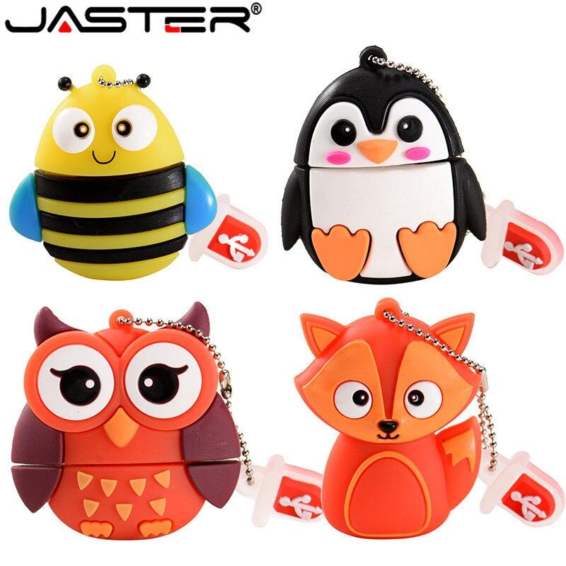 JASTER-memoria USB de 64GB con dibujos de animales, Pendrive de 4GB, 8GB,...
