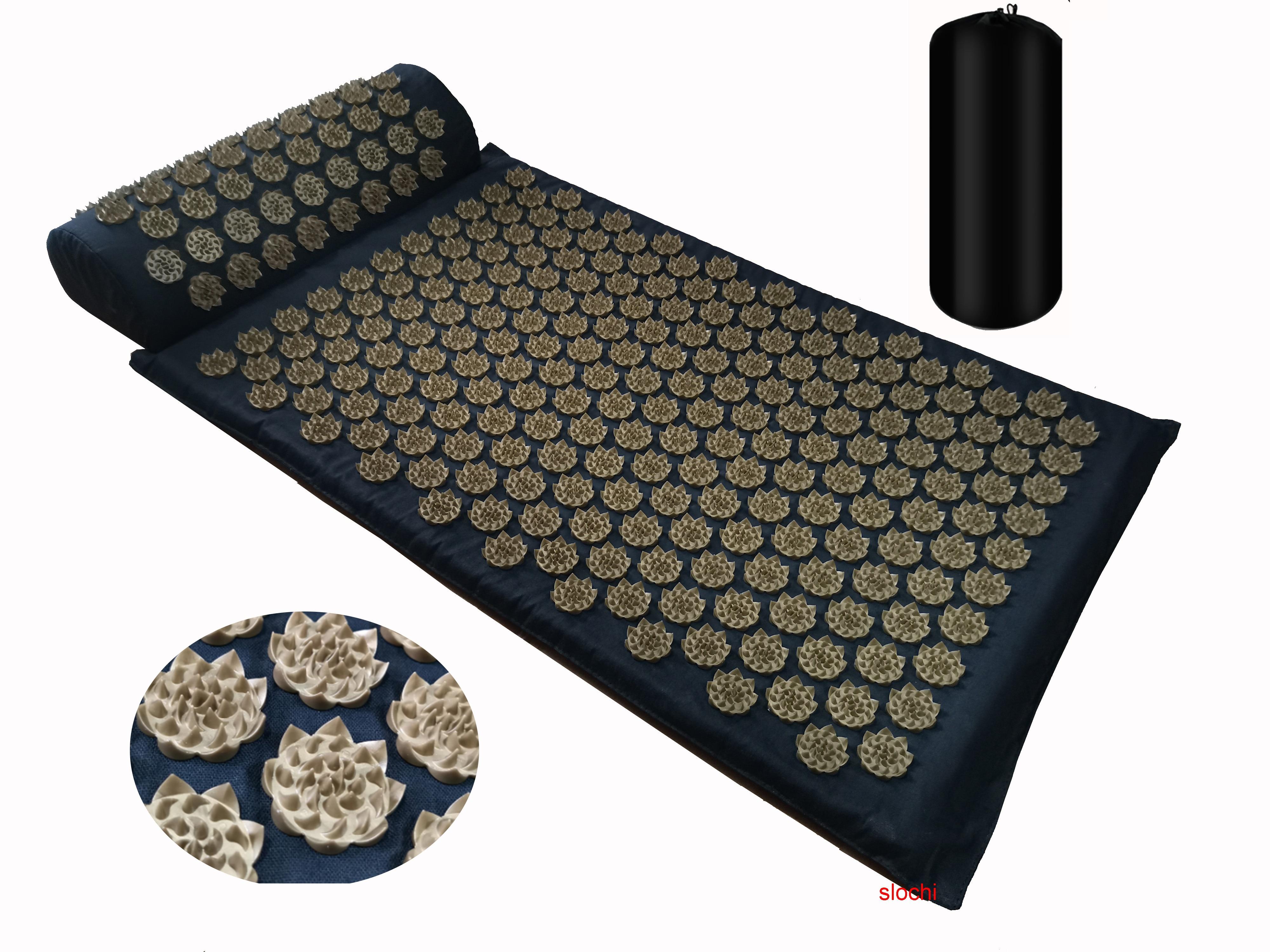 Massager Cushion Shakti Mat Massage Yoga Mat Acupressure Relieve Stress Back Body Pain Spike Mat Acupuncture Massage Mat