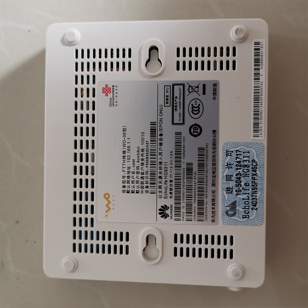 Free Shipping HUAWEI 10pcs Used Epon Gpon ONU HG8311 Fiber Optic Second Hand Router FTTH Fiberhome Modem Without Power Adaptor