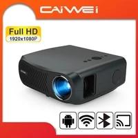 CAIWEI     projecteur natif A12 Full HD 1080P  7200 Lumens  WiFi  multi-ecrans  Android 6 0  pour Home cinema