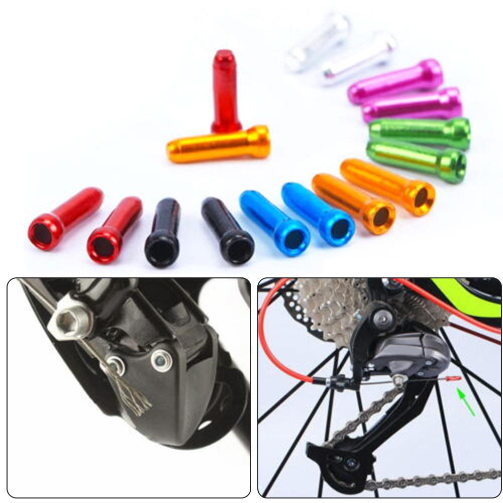 Casquillos de freno de aluminio para bicicleta, accesorios de Exterior, Cable interno,...