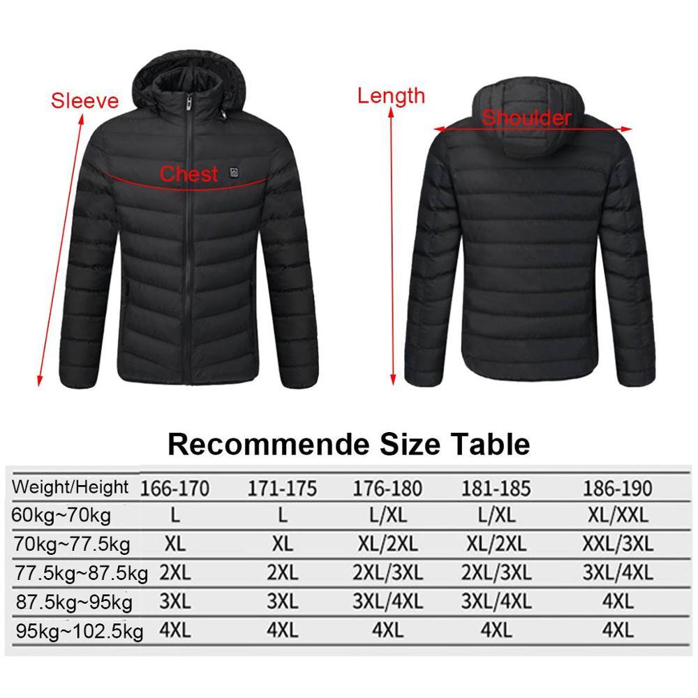 Jachete încălzitoare USB de iarnă pentru bărbați, termostat - Imbracaminte barbati - Fotografie 4