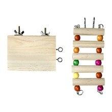 2 pièces petit perroquet Hamster journal escalade plate-forme support escalade escalier saut plate-forme mâcher jouets pour oiseau Hamster accessoires