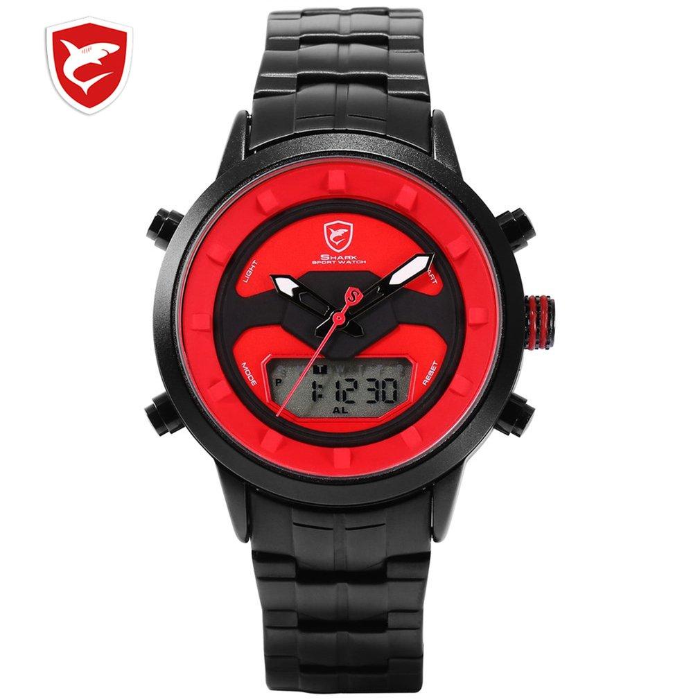 Shark Sport Watch Men Luxury Brand Golden Bezel Date Army Military Watches Clock Steel Quartz Relogio Masculino /SH552