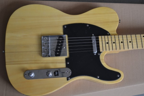 TL guitar Pale yellow Ameican electric Guitar in stock on sale free shipping