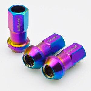 Jntitanti Cone Seat Open End  Gr5 Titanium  Lug Nuts M12/M14*1.25/1.5*45mm 6Al-4V titanium hub nut