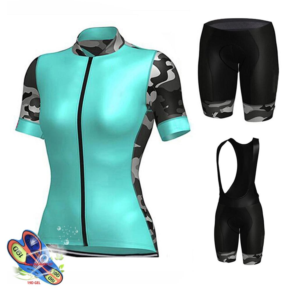 Conjunto de Maillot aerodinámico Zootekoi para Mujer, pantalones cortos para bicicleta, verano,...