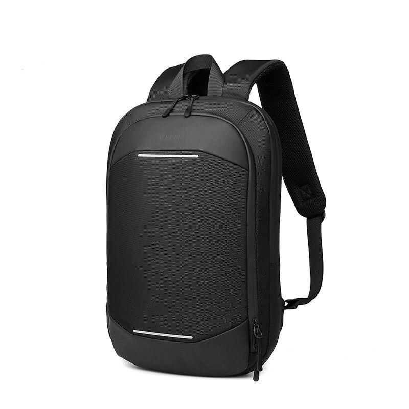 Мужской тонкий рюкзак, сумка для компьютера 14 дюймов, Простой деловой портфель, Легкий Повседневный расширяемый школьный ранец   АлиЭкспресс