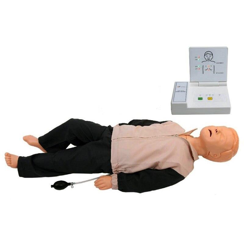 Maniquí CPR electrónico para niños, botiquín de primeros auxilios para resucitación, modelo BLS